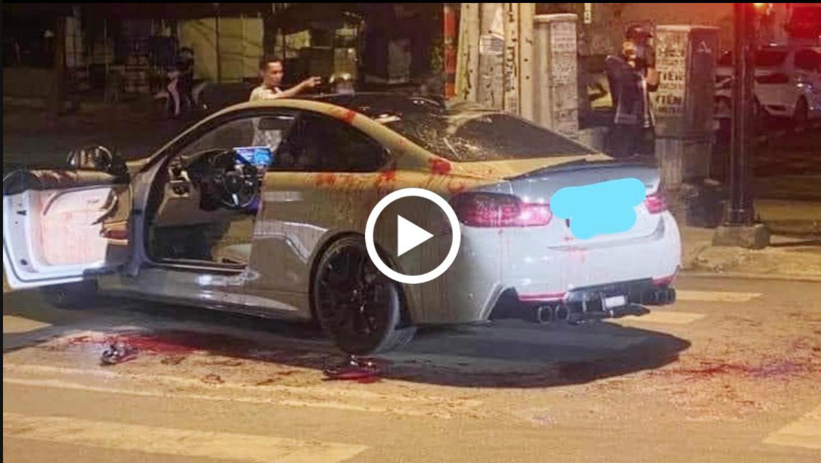 Phóng BMW pô nổ to, 2 người bị chém tới tấp